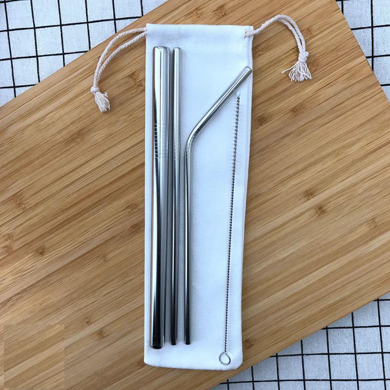 #316 醫療級不鏽鋼環保吸管3入(1彎1直1珍珠)(贈清潔刷) 限量優惠