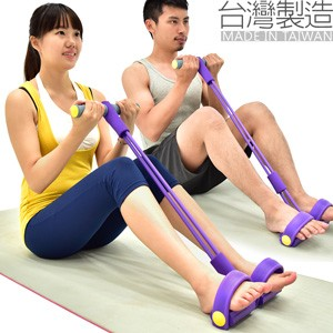 小巧實用 腳踏拉繩拉力器 (台灣製造)