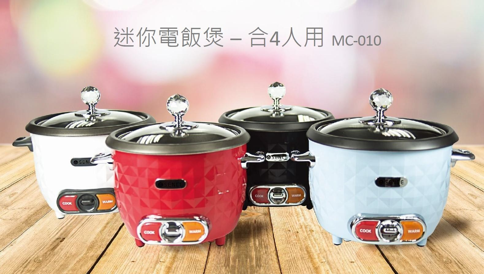 SENCE 日系小家電 2-4人用 迷你電飯煲 (1L)