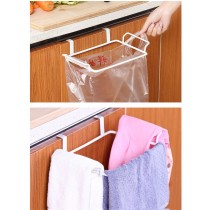 廚房省位好用 懸掛式 垃圾袋架及毛巾架組