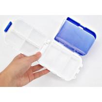 3層8格隨身丸丸收納盒 便攜式可折疊  外出/旅行必備小品(顏色隨機出貨)
