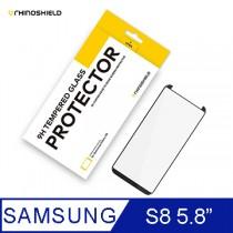 犀牛盾9H 3D滿版玻璃保護貼 -Samsung S8 黑色