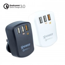 XP-WC3Q3 7.2A 3-port智能旅行充電器- Qualcomm ® Quick Charge ™ 3.0