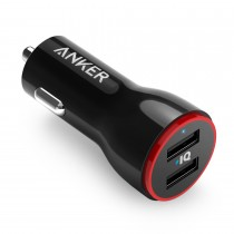 ANKER PowerDrive 2 24W 2-Port Car Charger 車用充電器 (黑色)